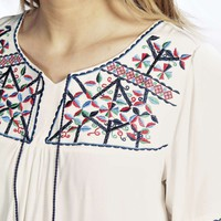 Maria Embroidered Tassel Tunic Top