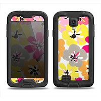 The Bright Summer Brushed Flowers  Samsung Galaxy S4 LifeProof Fre Case Skin Set
