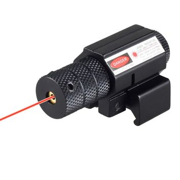 Tactical Aiming Red Beam Dot Laser Sight Scope With Mount 20mm Rail For Rifle Pistol Gun