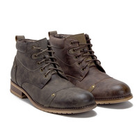 Ferro Aldo Men's Military Style Distressed Ankle Boots