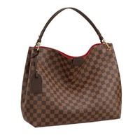 DCCK Louis Vuitton Damier Ebene Graceful MM Tote Handbag Article:N44045