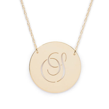 Beso Pierced Disc Necklace