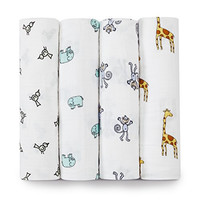 aden + anais Classic Muslin Swaddle Blanket, Jungle Jam, 4 count