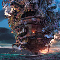 Howl's Moving Castle Studio Ghibli Large A1 Poster