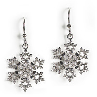 Jody Coyote Earrings from the Snowflake Collection - Holly Snowflake