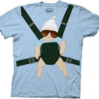 The Hangover Alan Baby Carrier Light Blue T-shirt  - The Hangover Costume - | TV Store Online
