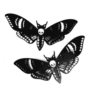 CURIOLOGY DEATHS HEAD MOTH HAIR CLIPS
