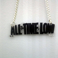 All Time Low Inspired Necklace by BurritoPrincess on Etsy