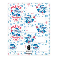 MERICA CHRISTMAS GIFT TAG STICKERS