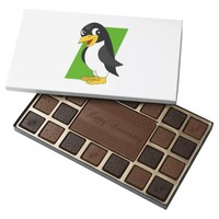 Cute penguin cartoon 45 piece box of chocolates