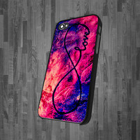 Popular Valentine Galaxy INFINITY LOVE CA 0609 - iPhone 4, iPhone 4s, and iPhone 5 Case - Black / White Cases