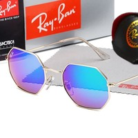 Ray-ban casual beach sunglasses with diamond-shaped shades for couples