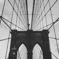 Flag on top of the Bridge, Black and White