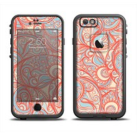 The Coral Abstract Pattern V34 Apple iPhone 6 LifeProof Fre Case Skin Set