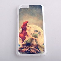 Ariel Little Mermaid Design Hard Case Cover Skin for iphone 6 case iphone 6plus iphone 5 5s 4 4s iphone 5c Samsung Galaxy S5 S3 S4 note 2 note3 note4 (Case for iPhone 6(White Hard))