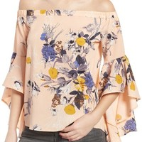 Chelsea28 Bell Sleeve Off the Shoulder Top | Nordstrom