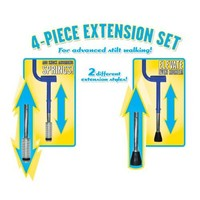 Geospace Xtensionz 4-Piece Extensions Set for Walkaroo Steel Stilts (Includes 2 Styles: Super Shocks & Vert Lifters)
