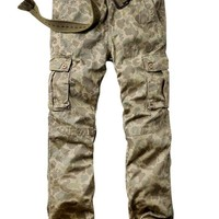 Match Men's Casual Cargo Pants Outdoors Work Wear #6531(42,Apricot max)