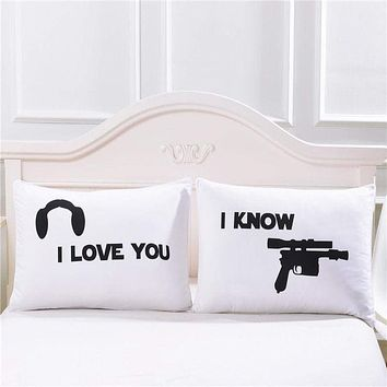 I Love You & I Know Pillow Case