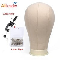 """Alileader Training Mannequin Head Canvas Block Head For Hair Extension Lace Wigs Making And Display Styling 21""""/22""""/23""""/24""""/25"""""""
