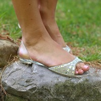 Make Me Jelly Flats in White