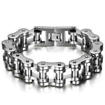Stainless Steel Chain Link Bracelet