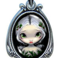Art Pendant - Holly Angel by Jasmine Becket-Griffith