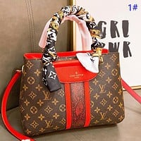 Hipgirls LV Fashion New Monogram Print Leather Shoulder Bag Crossbody Bag 1#