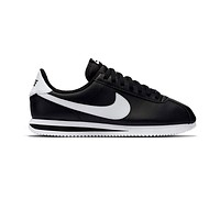 Nike Men's Cortez Basic Leather Black White