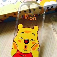 Winnie The Pooh Silicone Soft TPU Transparent Back Case Cover for Apple iPhone 4 4S 5 5S 5C SE 6 6S 6 Plus 6s Plus 7 & 7 Plus