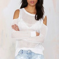 Out Cold Cutout Sweater