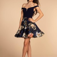 Navy floral homecoming dress GS1605