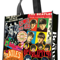 The Beatles Albums Large Recycled Shopper Tote Bag