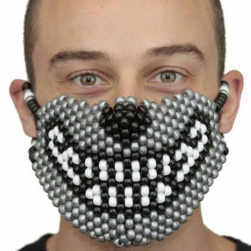 Silver Wolf Smile Full Kandi Mask