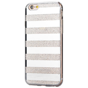 Crystal Glitter Powder Shining Candy Cover for iphone 6 Case Cute Stripe Phone Cases For iphone 6S Case 6 Plus Capa Fundas