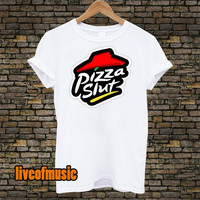 Pizza Slut Tshirt Black and White For Men and Women Unisex Size from liveofmusic