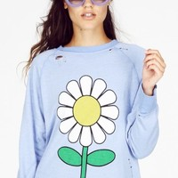 OH, DAISY DESTROYED SWEATER