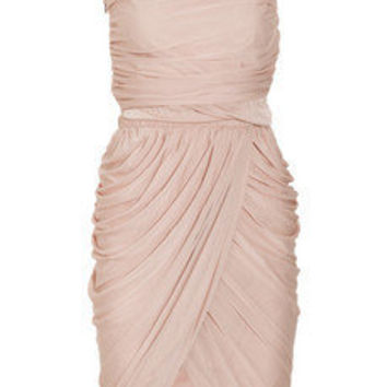 Halston One-shoulder draped jersey dress - 70% Off Now at THE OUTNET