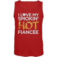 I Love My Smokin Hot Fiancee Red Mens Tank Top