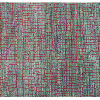 Anusk Rug, Green/Red, Area Rugs