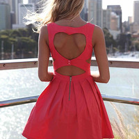 PRE ORDER - HEART CUT OUT DRESS (Expected Delivery 15th September, 2014) , DRESSES, TOPS, BOTTOMS, JACKETS & JUMPERS, ACCESSORIES, 50% OFF SALE, PRE ORDER, NEW ARRIVALS, PLAYSUIT, GIFT VOUCHER,,Pink Australia, Queensland, Brisbane