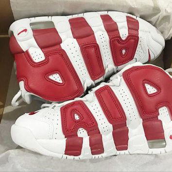 Nike Air More Uptempo Big R Scottie Pippen White/Red Sport Basketball Shoes G-FEU-SY