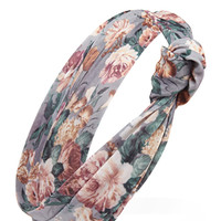 Knotted Floral Print Headwrap