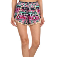 Oahu Island Shorts with Pom Pom Detail