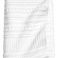 Burnout-patterned Bath Towel - White - | H&M US