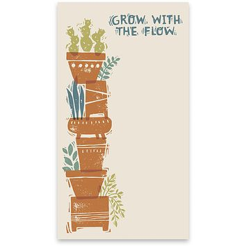 """Grow With The Flow List Notepad with Plants Design 