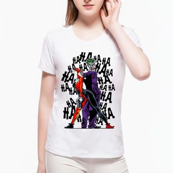 Comic Hot Movie Suicide Squad T Shirt Harley Quinn T-shirt Joker Hip Hop Pop Cool Novelty Women's Shirts Kawaii Fashion Tee L1E1