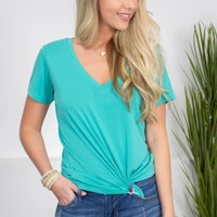 Modal Turquoise Top