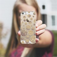 Bokeh Dots Cafe Latte - Clear Background iPhone 5s case by Lisa Argyropoulos | Casetagram