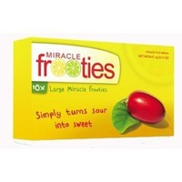 Miracle Berry Fruit Tablets:TEN tablets Yellow Box Miracle Fruit Frooties Miraculin Tablets Large Size Tabs 10 600mg Per Tablet
